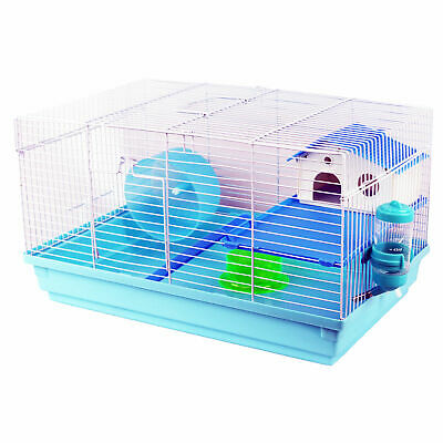 Blue Hamster Rodent Cage Syrian Mouse Gerbil Mouse Mice Dwarf Wheel