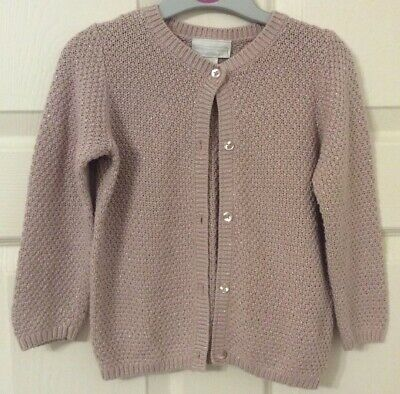 the little white company Pink Cardigan 3-4 Years