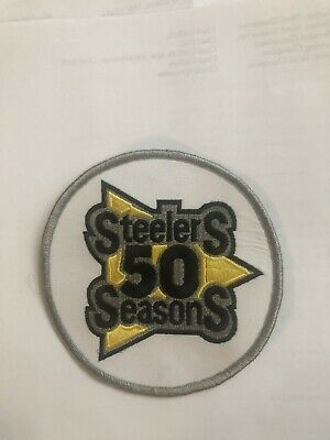 NEW PITTSBURGH STEELERS 50th ANNIVERSARY NFL JERSEY PATCH 1982 SEASON