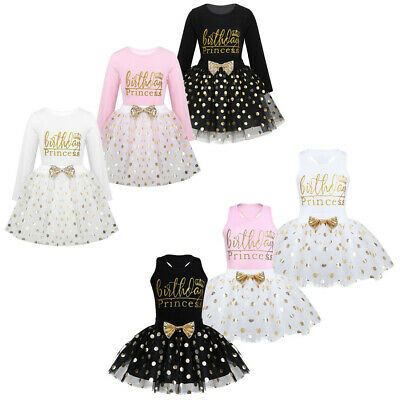 Baby Kids Girls Birthday Princess Party Dress Bow Tutu Skirt Outfit Costume Sets