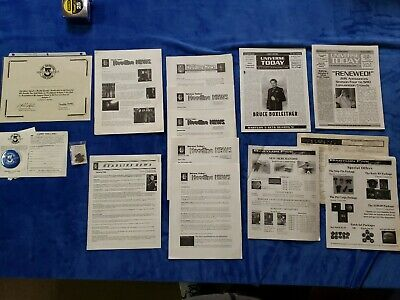 Babylon 5 Lot Universe Todays, Headline News, FAN Club Certificate, Pin, Button