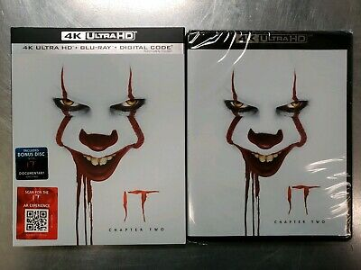 #New# It:chapter Two(4K Ultra Hd+Blu-Ray+Digital)W/Slipcover Factory Sealed