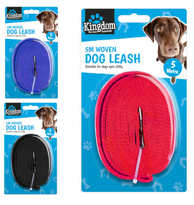 5m Extra Long Dog Training Lead Strong Leash Large Recall Line Walking