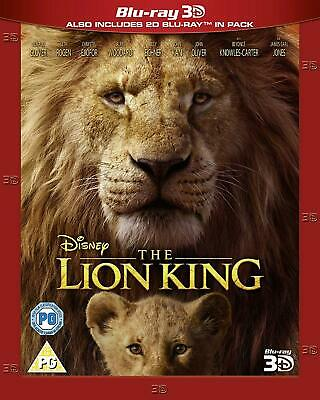 The Lion King Live Action 3D + 2D BLU-RAY 3D Combo New.