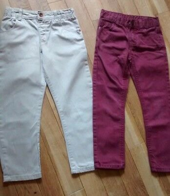Marks and Spencer Boys Beige Trousers and Burgundy Jeans Age 5-6