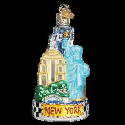 New York City Glass Ornament Old World Christmas Statue of Liberty Empire State