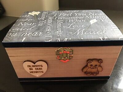 Angel Baby Miscarriage In Loving Memory Wooden Keepsake Box Child Bereavement