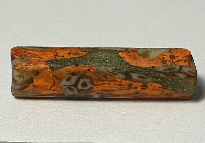 27.5mm ANCIENT RARE ROMAN OR EARLY ISLAMIC TUBE GLASS BEAD