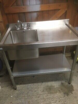 Stainles Steel Sink Unit With Taps