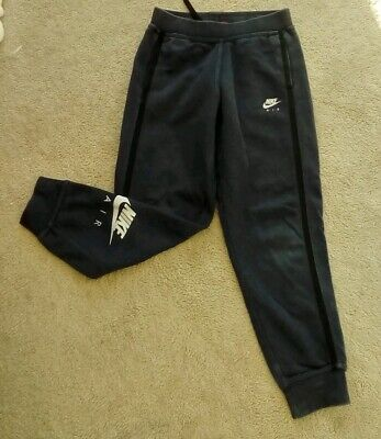 Nike Air Boys Tracksuit bottoms joggers blue & silver Age 7 - 8 years