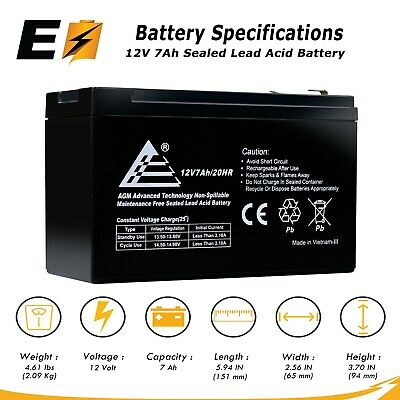 8 Pack New AB1270 12V 7AH APC RBC2 Battery Replacement APC BK300C