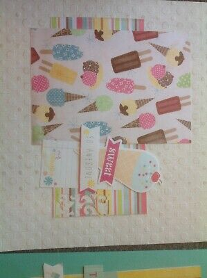 double page 12 by 12 scrapbooking Pre made Free post