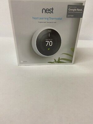 Nest Learning Thermostat 3rd Gen in White Model # T3017US
