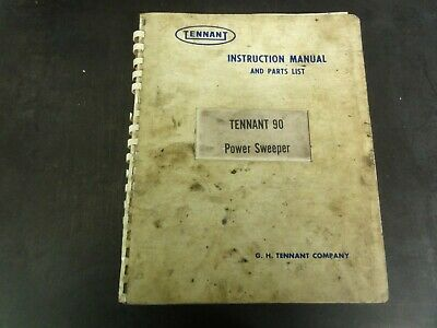 Tennant 90 Power Sweeper Instruction Manual and Parts List Manual