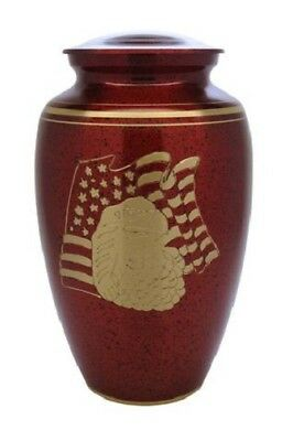 Small/Keepsake 3 Cubic Inch Red Liberty Brass Funeral Cremation Urn for Ashes