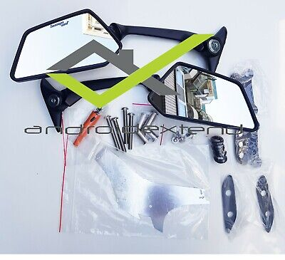 KYMCO DOWNTOWN 350i TM250R FRONT MIRRORS (with DRILL.TOOL)
