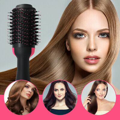 3 In 1 One Step Hair Dryer Comb and Volumizer Pro Brush Straightener Curler AU