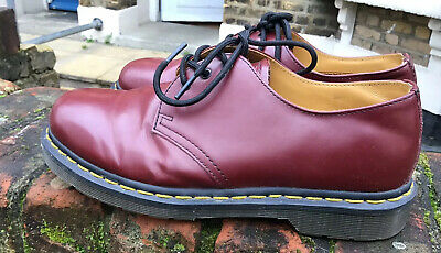 Dr Martens 1461 Leather Cherry Red Oxblood Unisex Shoes Size 6