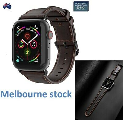 Apple Watch Band Genuine Leather Strap iWatch Series 5 4 3 2 1 / 38 40 42 44mm
