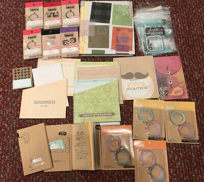 K&Company Smash Scrapbooking Supplies Lot with Journal