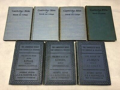 Lot of 7 Cambridge Bible for Schools & Colleges, 1886-1918, Maps
