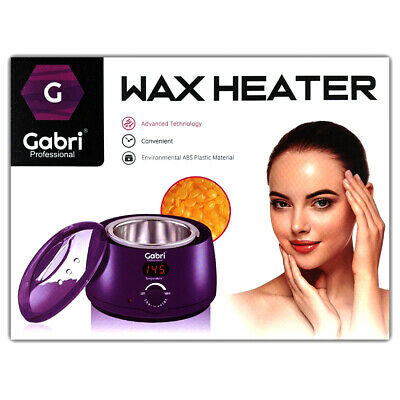 Gabri professional wax heater. Depilatory wax heater. Purple. Salon. Barber