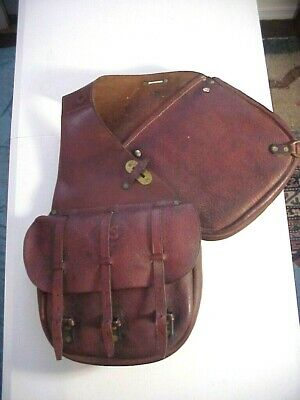 INDIAN WARS WWI  U.S. LEATHER SADDLE BAGS for Cavalry Horse
