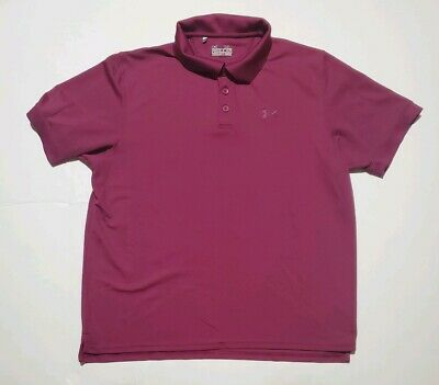 Under Armour Heat Gear Regular Golf Polo Purple/ Pink Size Xl