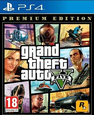 GTA 5 GRAND THEFT AUTO V Premium Edition Playstation 4 PS4 NUOVO SIGILLATO UE