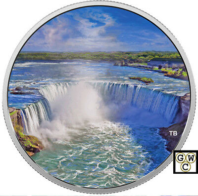 2018 'Fireworks at the Falls' Color Prf $30 Silver Coin 1oz .9999 Fine(18516)NT