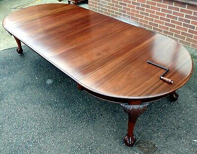 HUGE Victorian antique solid mahogany extending dining kitchen table seats 14-16