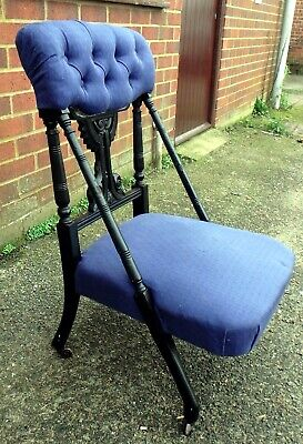 Attrib. to Dr Christopher Dresser Victorian antique ebonised side nursing chair