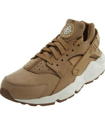Nike Air Huarache Size 10 Mid Brown White Sole