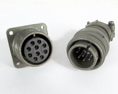 Bendix & AMP Mated Connectors AN3102A18-1S(C) to MS3106A18-1P Solder Contacts