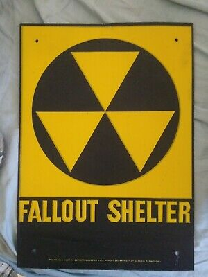 """Fallout Shelter Sign - 10""""x 14"""""""