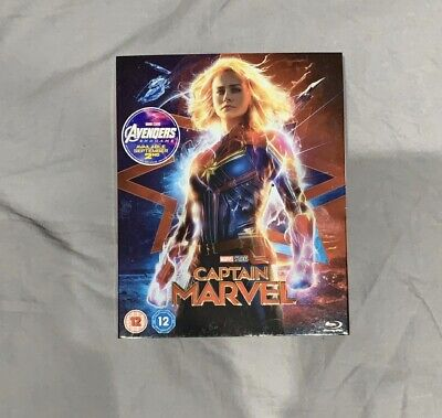 Captain Marvel Blu Ray Slip Cover / Sleeve ONLY - no disc / NEW