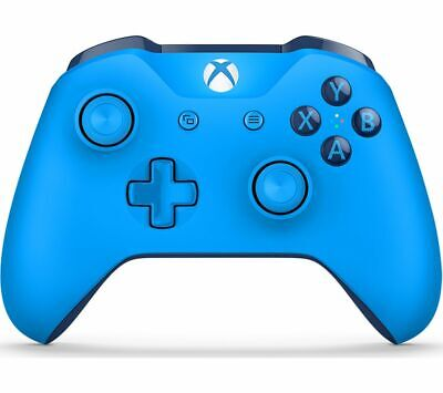 Official Microsoft Xbox One S Refurbished Blue Wireless Controller + Cable UK