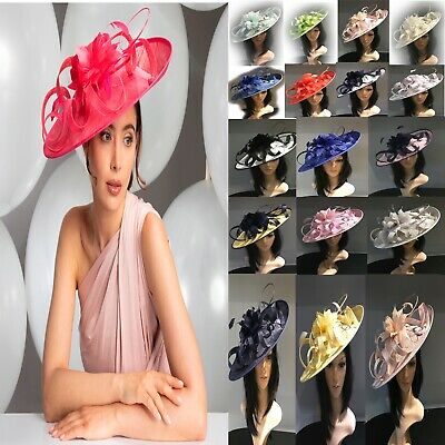 Stunning Ascot Wedding Hatinators Hat Assorted Colours Mother Of The Bride