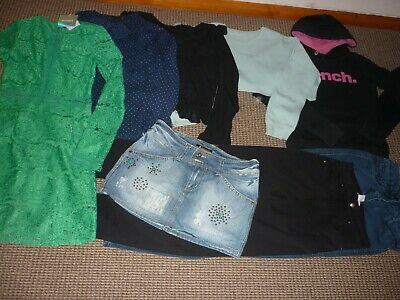 Bundle Girls Clothes age 14-15yrs Bench Next Zara Jeans Skirt Dress Tops Hoodie