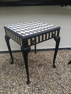 lamp side table With Drawer Hand Painted Using Annie Sloan Chalk Paint