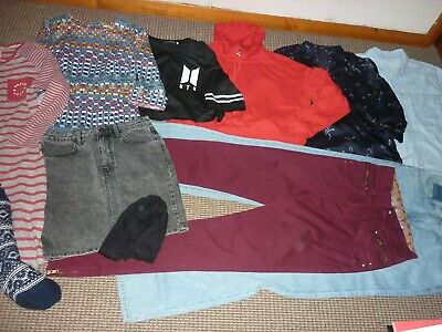 Bundle Girls Clothes age 15-16yrs Topshop Zara Jeans Skirt Dress Tops Nightshirt