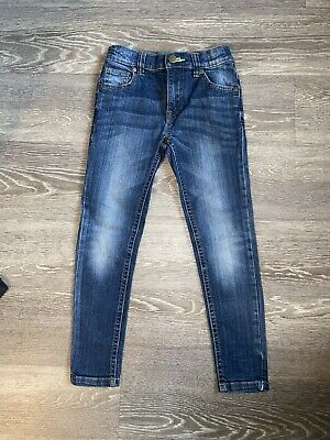 Boys Gorgeous BLUEZOO Blue Skinny Jeans Size 7yrs VGC