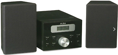 Alba Bush LCD CD Micro System with FM and AUX - Black