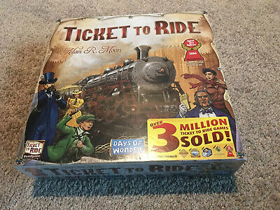 Days of Wonder Ticket To Ride Alan R. Moon Train Adventure Board Game NEW Sealed