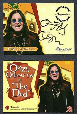 2002 The Osbournes Season One Signed Ozzy 1st Ever Certified Autograph G00 2487