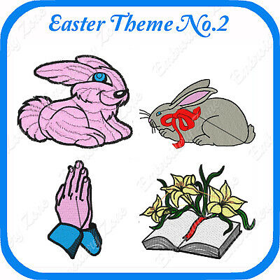 10 Easter Themed Embroidery Designs On Usb - No.2 - Pes Jef Hus Pcs Xxx Vp3