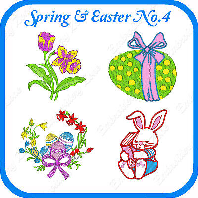 18 Easter Themed Embroidery Designs On Usb - No.4 Pes Jef Hus Pcs Xxx Vp3