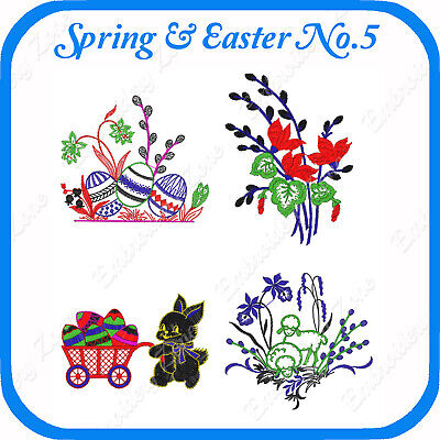 18 Easter Themed Embroidery Designs On Usb - No.5 Pes Jef Hus Pcs Xxx Vp3