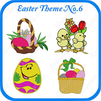 48 Easter Themed Embroidery Designs On Usb - No.6 Pes Jef Hus Pcs Xxx Vp3