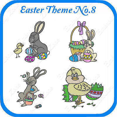 10 Easter Themed Embroidery Designs On Usb - No.8 - Pes Jef Hus Pcs Xxx Vp3